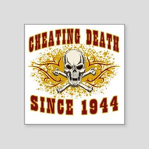 """cheating death 1944 Square Sticker 3"""" x 3"""""""