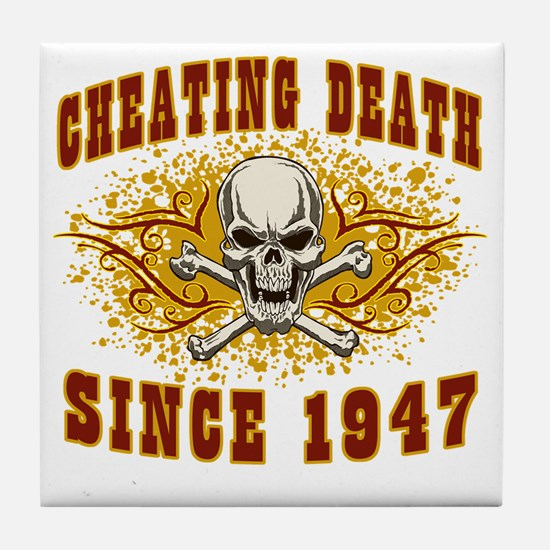 cheating death 1947 Tile Coaster