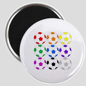 Rainbow Soccer Magnet