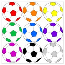 Rainbow Soccer Canvas Art