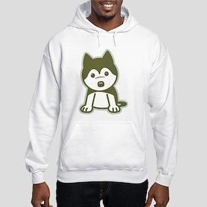 Husky Puppy Hooded Sweatshirt