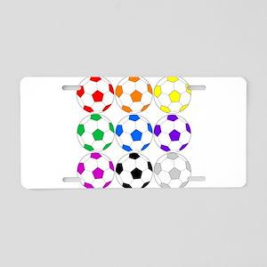 Soccer Ball Aluminum License Plate