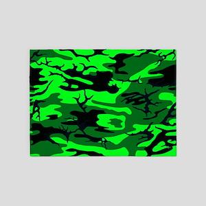 Alien Green Camo 5'x7'Area Rug