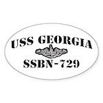 USS GEORGIA Sticker (Oval)
