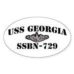 USS GEORGIA Sticker (Oval)