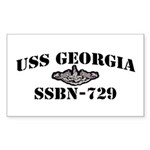 USS GEORGIA Sticker (Rectangle)