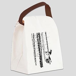 Fox in Birch Forest Modern Art Canvas Lunch Bag