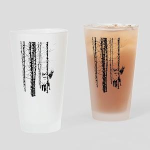 Fox in Birch Forest Modern Art Drinking Glass
