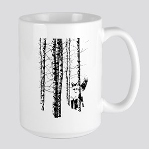 Fox in Birch Forest Modern Art Mugs