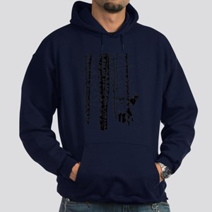 Fox In Birch Forest Modern Art Hoodie (dark)