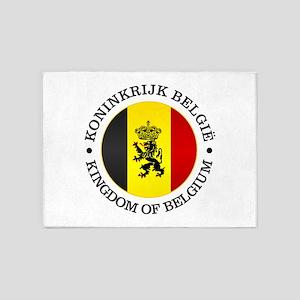 Belgium (rd) 5'x7'Area Rug
