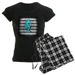 Teal Black Seahorse Pajamas