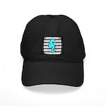 Teal Black Seahorse Baseball Hat