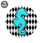 Teal Black Seahorse 3.5