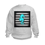 Teal Black Seahorse Sweatshirt