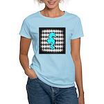 Teal Black Seahorse T-Shirt