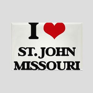 I love St. John Missouri Magnets