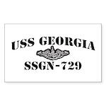 USS GEORGIA Sticker (Rectangle)