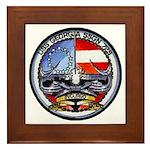 USS GEORGIA Framed Tile