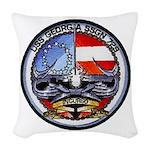 USS GEORGIA Woven Throw Pillow
