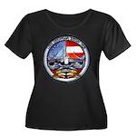 USS GEOR Women's Plus Size Scoop Neck Dark T-Shirt