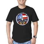 USS GEORGIA Men's Fitted T-Shirt (dark)
