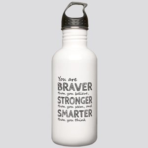 Braver Stronger Smarte Stainless Water Bottle 1.0L
