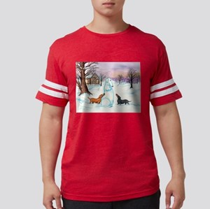 Snow Dachshunds T-Shirt