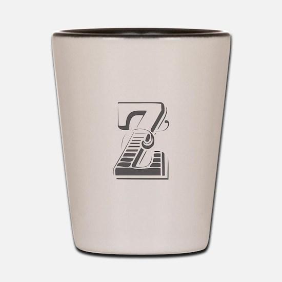 Z-Max gray Shot Glass