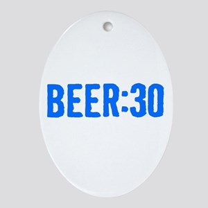 Beer:30 Ornament (Oval)