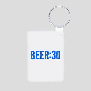 Beer:30 Aluminum Photo Keychain
