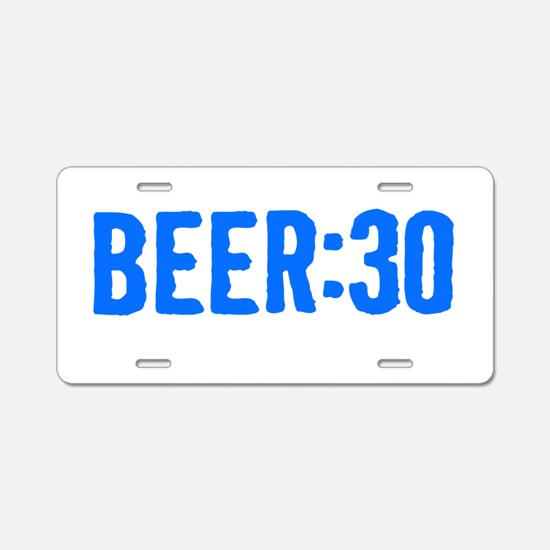 Beer:30 Aluminum License Plate