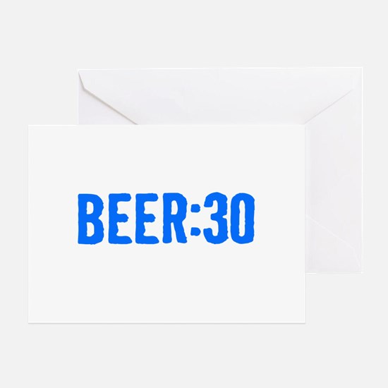 Beer:30 Greeting Card