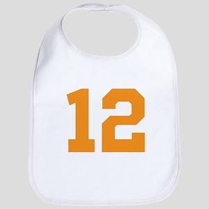 12 ORANGE # TWELVE Cotton Baby Bib