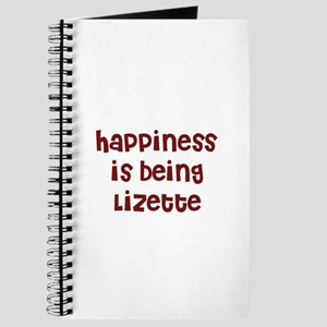 happiness is being Lizette Journal