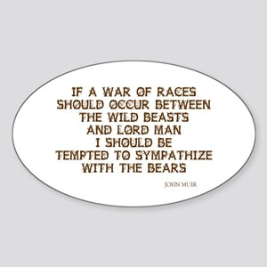 War of Races Oval Sticker