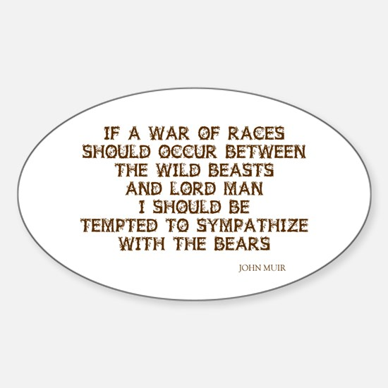 War of Races Oval Decal