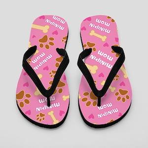 Minipin Dog Mom Gift Flip Flops