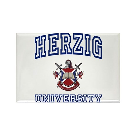 HERZIG University Rectangle Magnet (10 pack)
