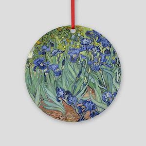 Van Gogh - Irises Round Ornament