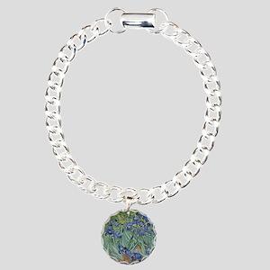 Van Gogh - Irises Charm Bracelet, One Charm