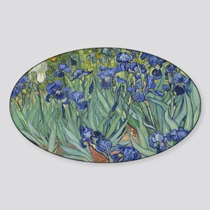Van Gogh - Irises Sticker (Oval)
