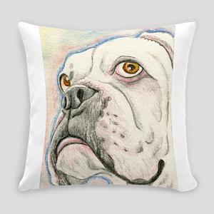 White Boxer Everyday Pillow