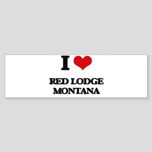 I love Red Lodge Montana Bumper Sticker