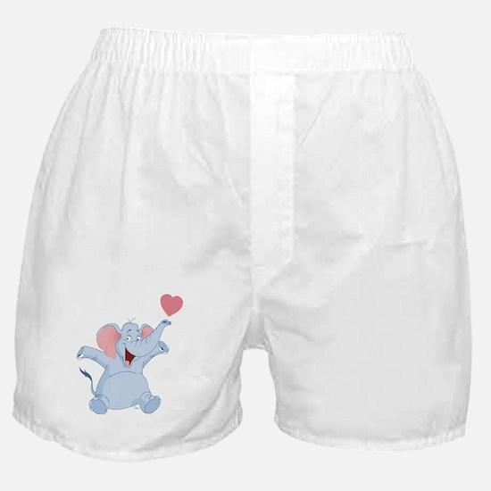Valentine Elephant Boxer Shorts