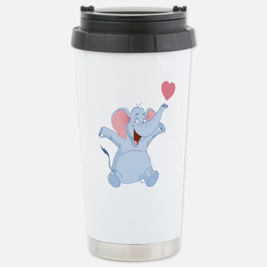 Valentine Elephant Stainless Steel Travel Mug