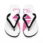 Personalizable Pink Sailboat Flip Flops