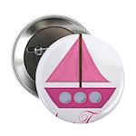 Personalizable Pink Sailboat 2.25