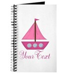 Personalizable Pink Sailboat Journal