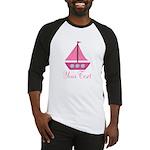 Personalizable Pink Sailboat Baseball Jersey